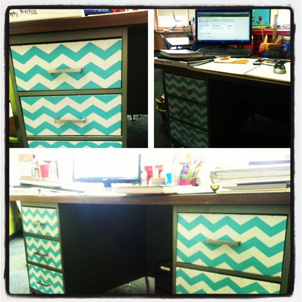 My Boring Metal Desk Makeover With Tj Maxx Contact Paper