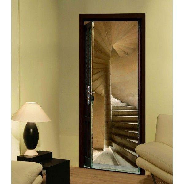 sticker porte (entrée ?) trompe l\u0027oeil - Oeil De Porte D Entree