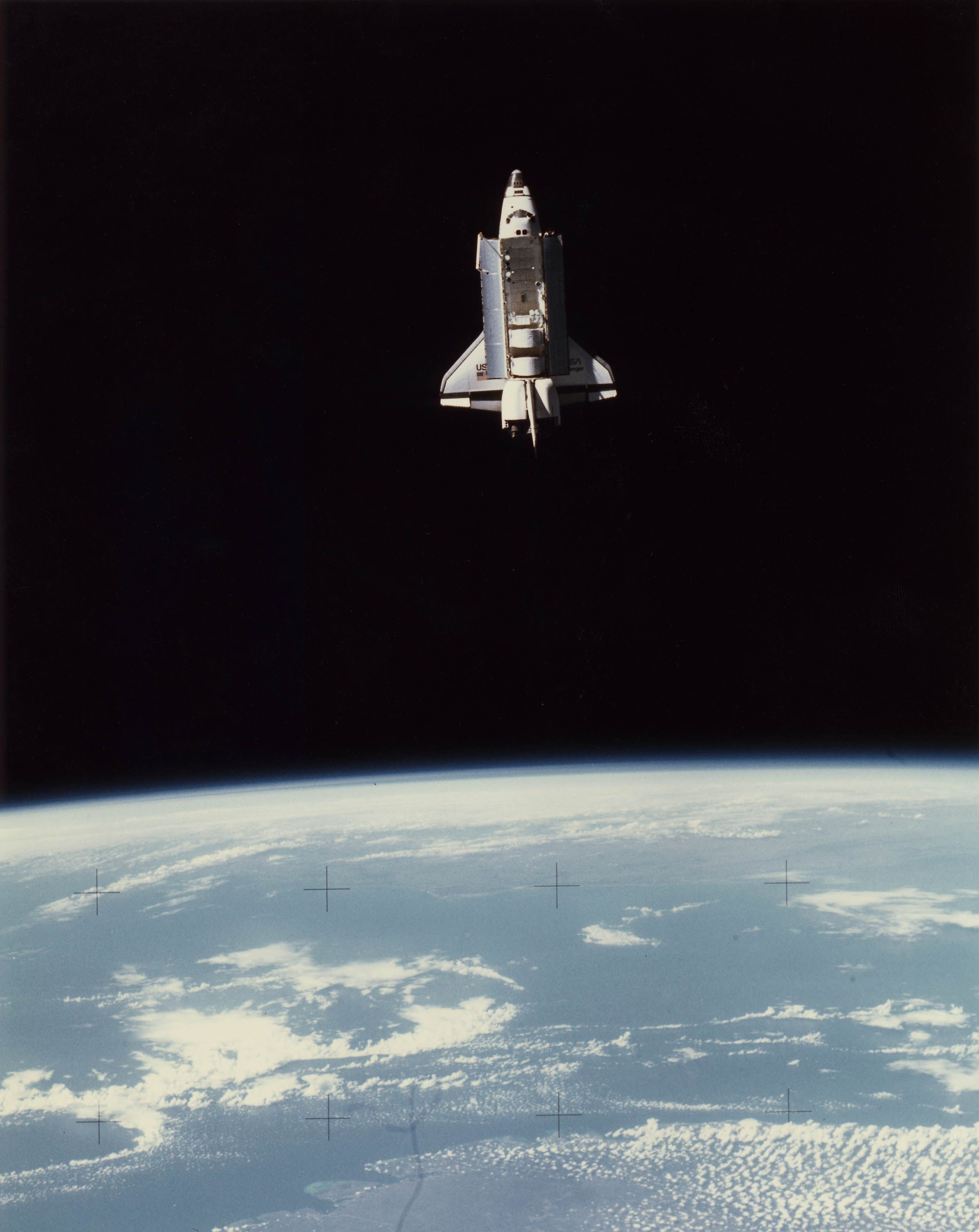 Details About Nasa Space Shuttle Columbia In Earth Orbit With Bay