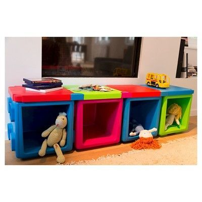 Chillafish Modular Toy Storage Box Top - Red and Orange  sc 1 st  Pinterest & Chillafish Modular Toy Storage Box Top - Red and Orange | Pinterest ...