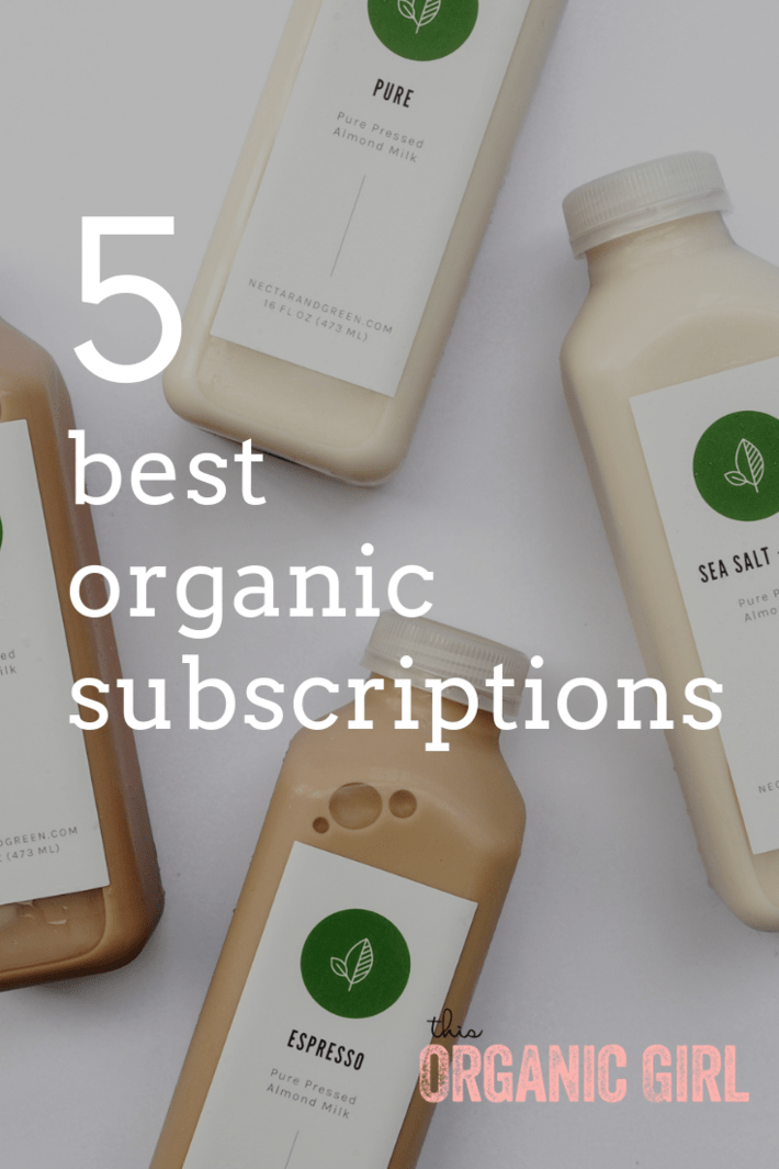 5 Best Organic Subscriptions - these subscriptions are cleanest of the clean (no greenwashing here!), practical and useful, have great customer service, amazing in value, and improve your life in a variety of ways! All tested and loved by This Organic Girl, these subscriptions will ROCK YOUR WORLD! #subscription #box #organic #beauty #food #lifestyle