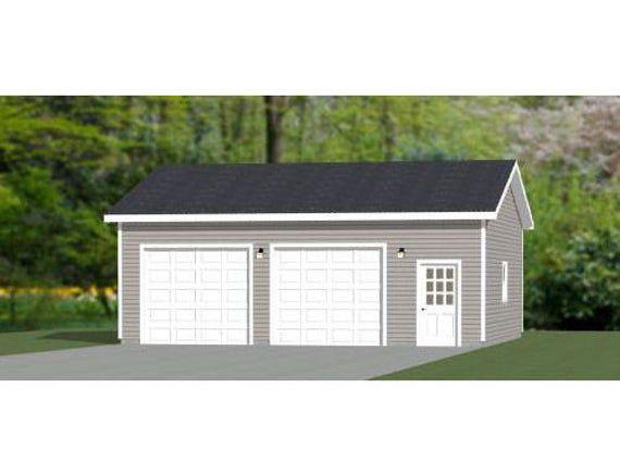 30x28 2 Car Garage 840 Sq Ft Pdf Floor Plan Instant Etsy In 2021 Garage Plans Detached Small Shed Plans Garage Workshop Plans