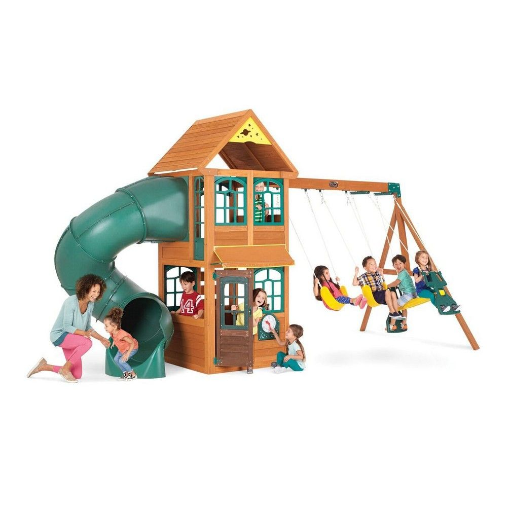 Mobby loft bed with stairs  KidKraft Cloverdale Wooden Playset MultiColored  Products