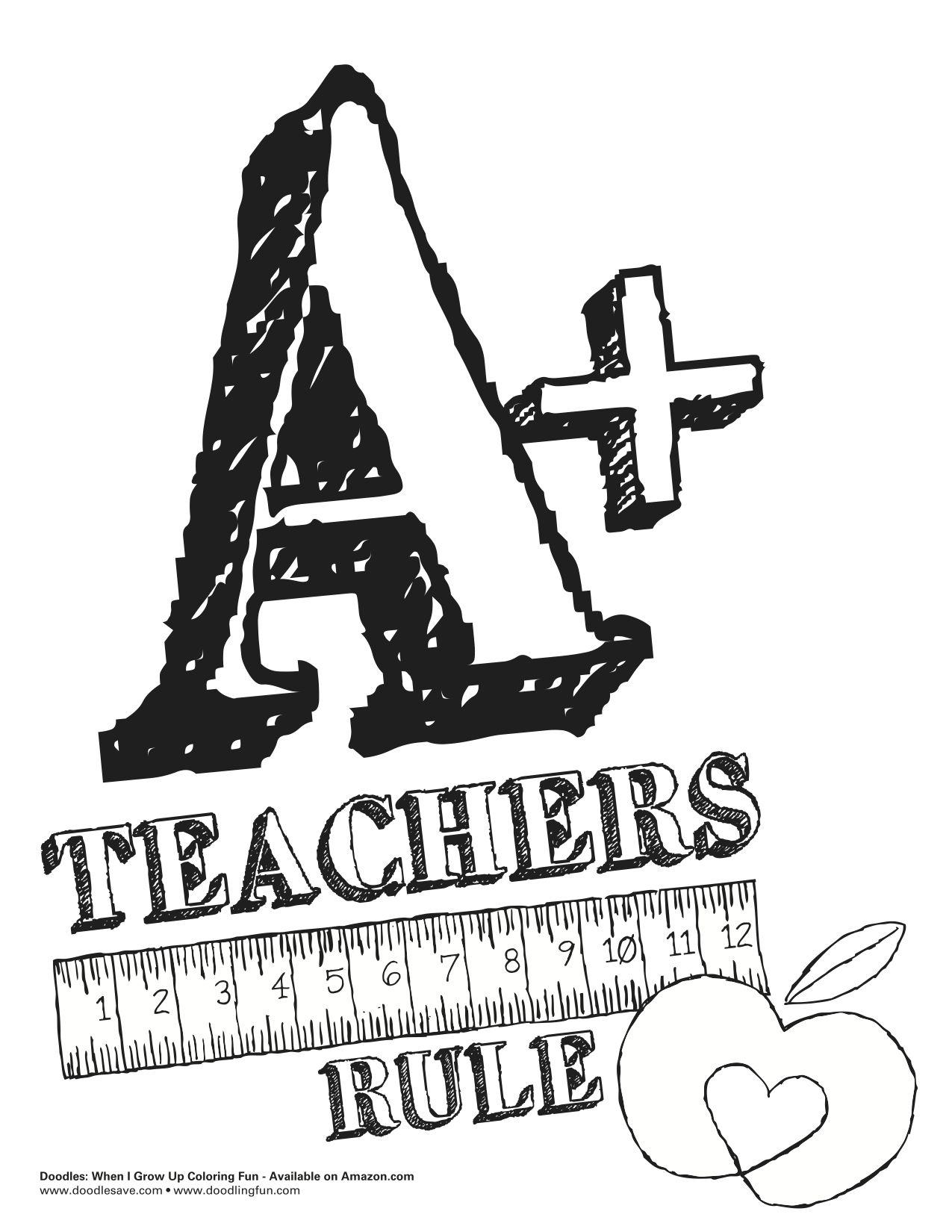 Teacher Appreciation Coloring Sheets Doodlesave
