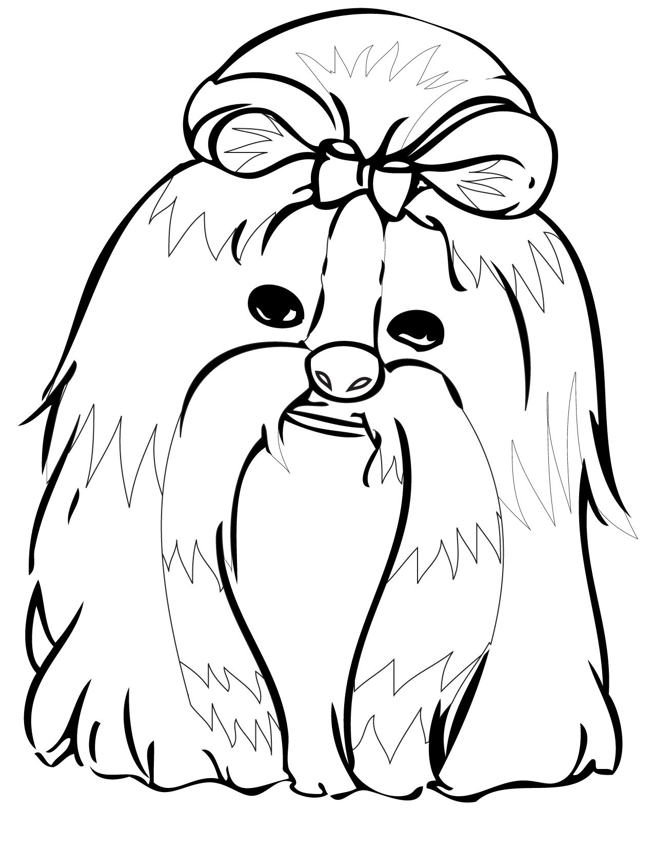 dog color pages printable | Print This Page | Dogs Coloring Pages ...