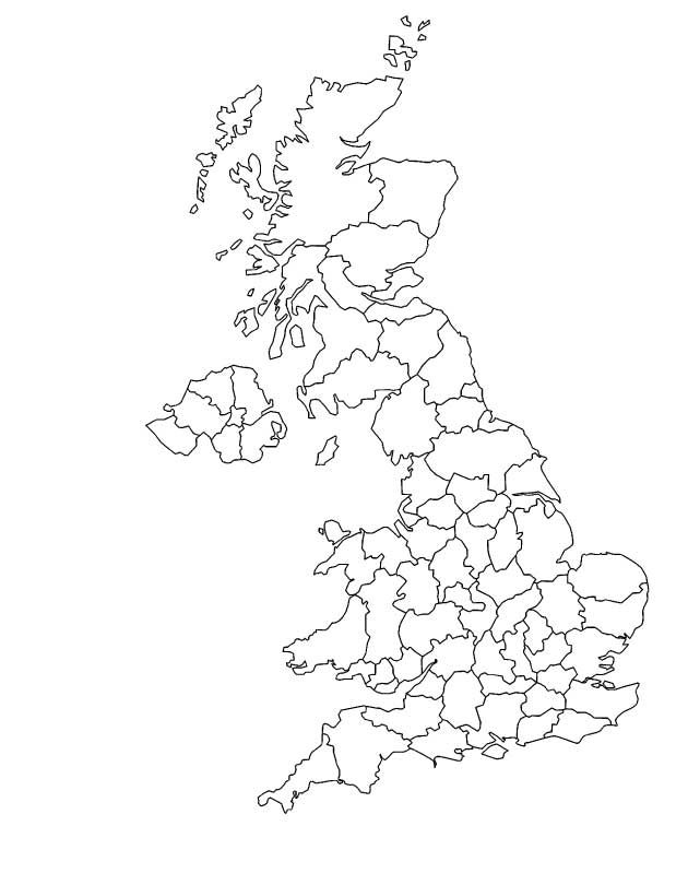 England Map Coloring Page Outline map of United United Kingdom - tattoo artist resume