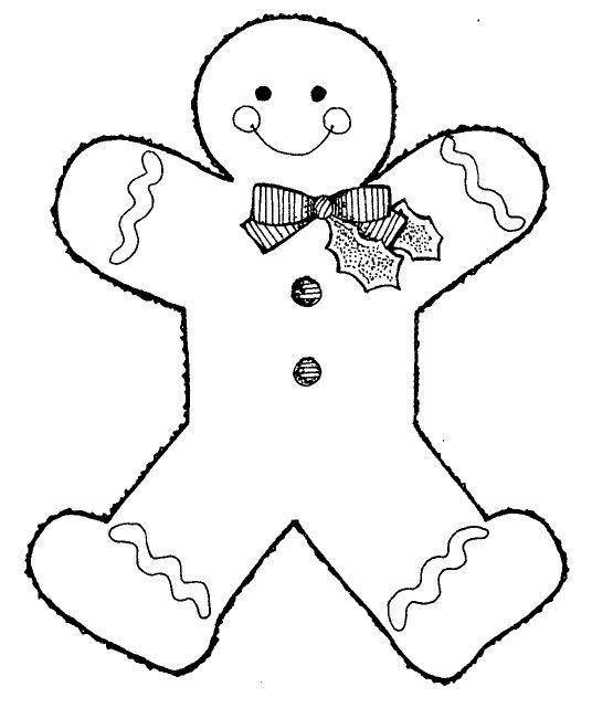 Gingerbread Man Outline