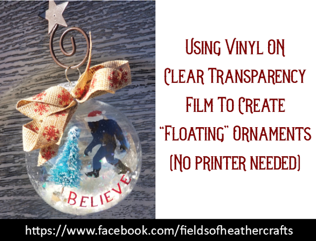Bigfoot Ornaments Using Vinyl On Transfer (Acetate