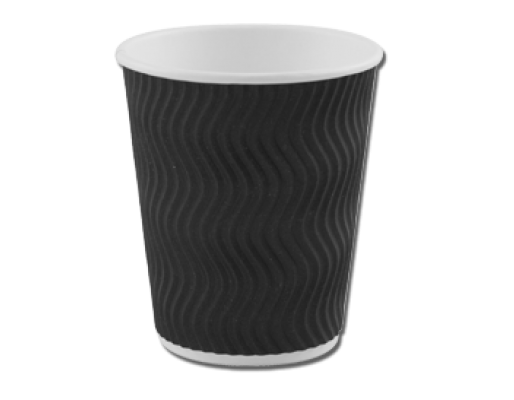 Promotional Printed Black Disposable Coffee Cups