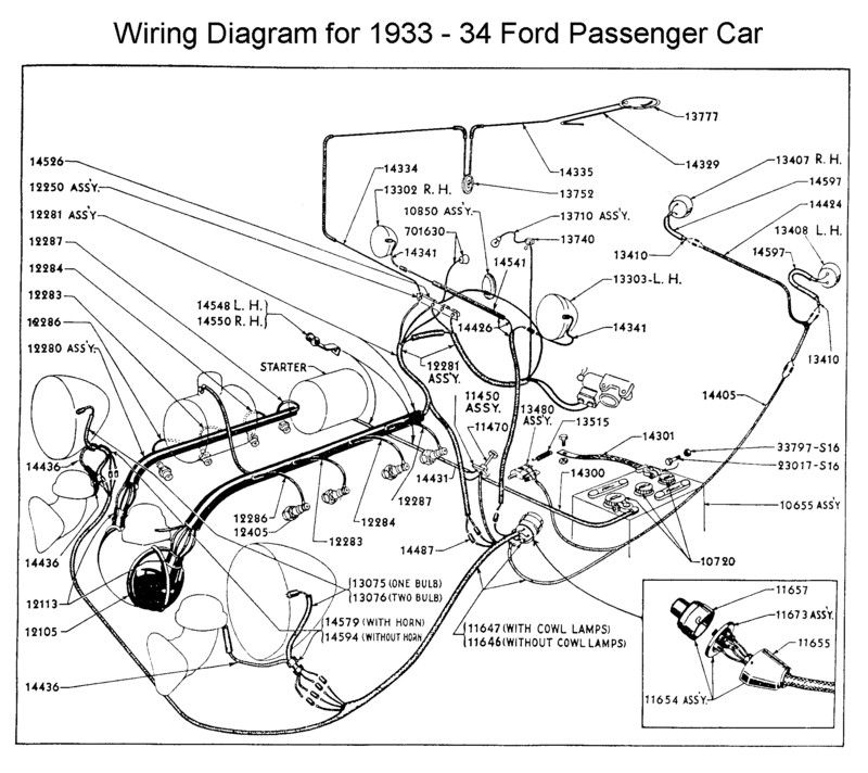 Wiring diagram for 1933/34 Ford