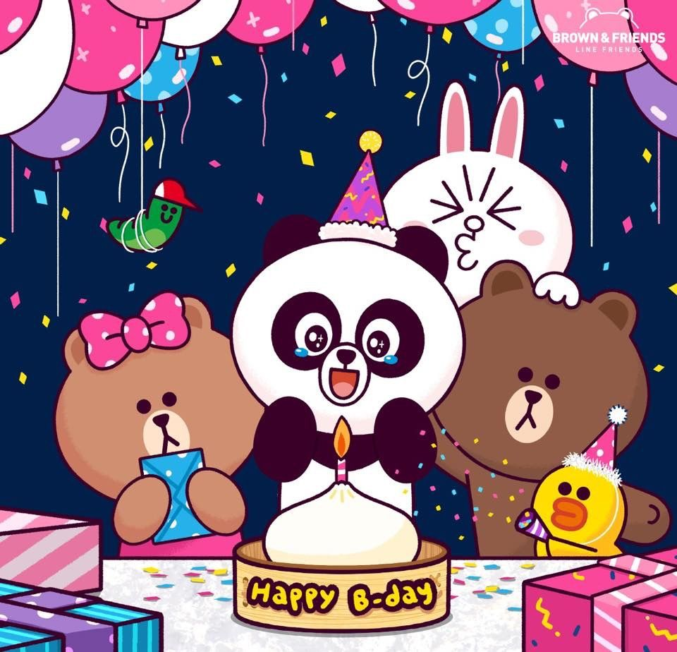 Happy birthday. #PANGYO ! #ThankYou #Friends #Birthday #Party #Cake #Friendship #BROWN #CONY #SALLY #EDWARD #PANGYO #CHOCO #LINEFRIEND | 캐릭터 ...