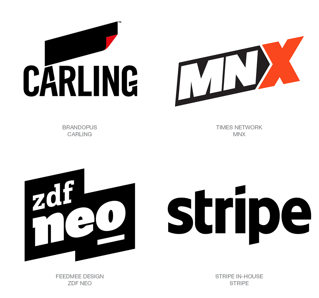2018 Logo Trends Articles Logolounge Parallelogram Logos The Nature Of The Oblique Shape Gives It A Shar Logo Design Trends Best Logo Design Logo Design