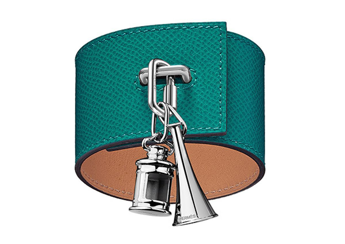 Hermès Curiosite Leather Bracelet Cuff