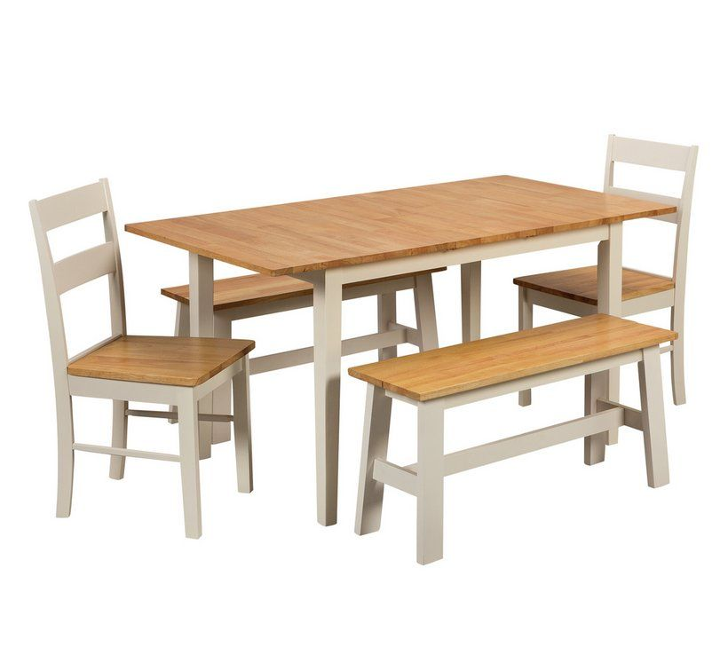 Buy Argos Home Chicago Extending Table, 2 Benches & 2