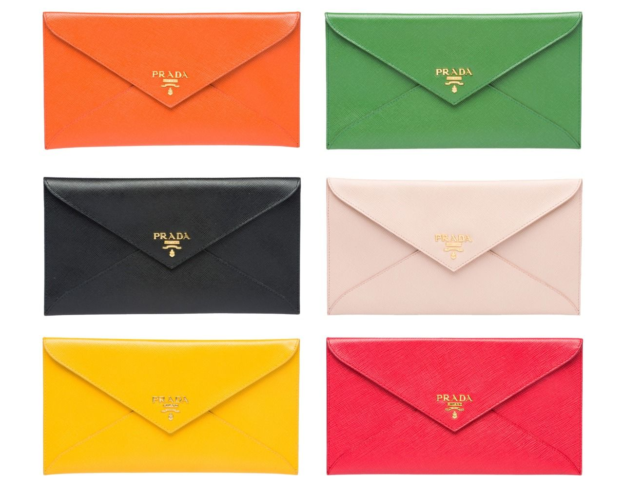 bae266efff53a3 Prada envelope clutches in all the colours of the rainbow | Style in ...