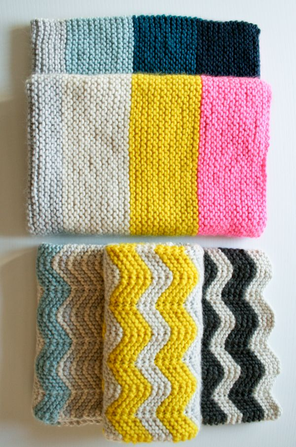 Chevron knit tutorial | Patrones | Pinterest | Mantas de puntos ...