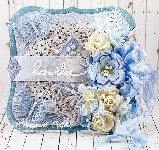 A Mermaids Crafts: Scrapy Land Challenge #68 - Embossing