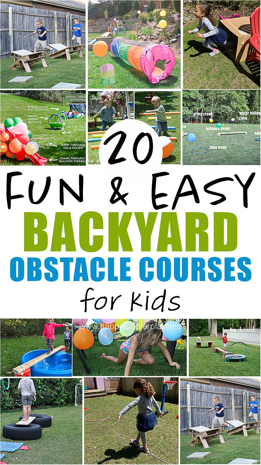 20 Amazing Backyard Obstacle Courses Happy Toddler Playtime In 2021 Kids Obstacle Course Backyard Obstacle Course Toddler Obstacle Course