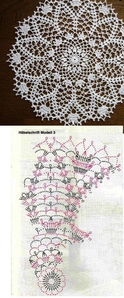 crochet pattern lace... | Doilies | Pinterest | Ganchillo, Carpeta y ...