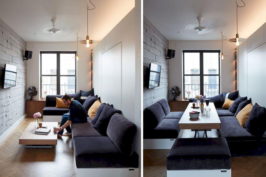 8 Cozy Apartment Decoration Ideas With Multifunctional Furniture Apartmentdecorationidea Studio Apartment Layout Studio Apartment Decorating Apartment Layout