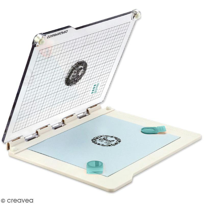 Presse de précision pour tampons transparents StampingPro – A5 – Accessoires pour tampons
