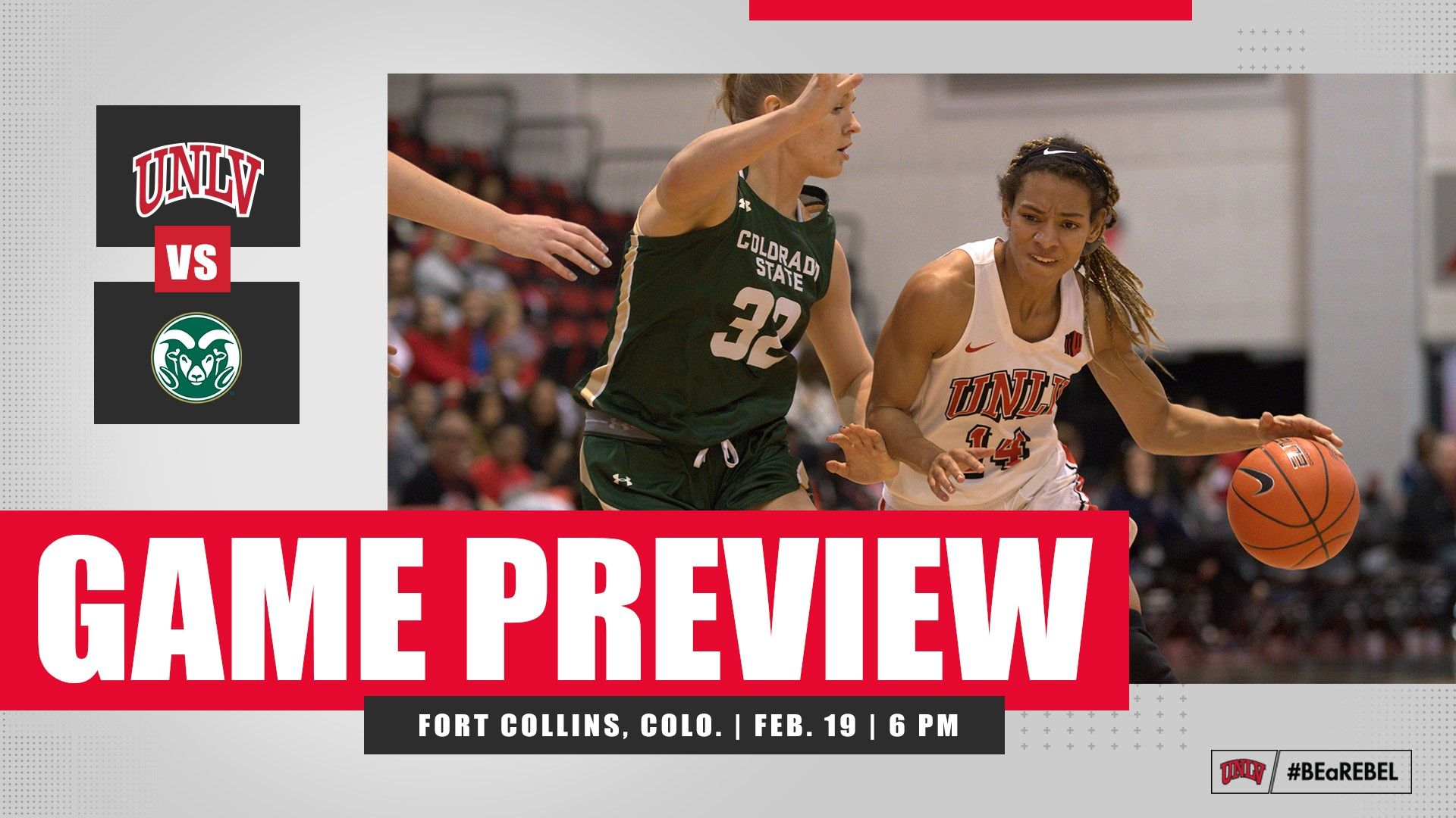 UNLV WOMEN'S BASKETBALL SET FOR WEDNESDAY ROAD CONTEST AT