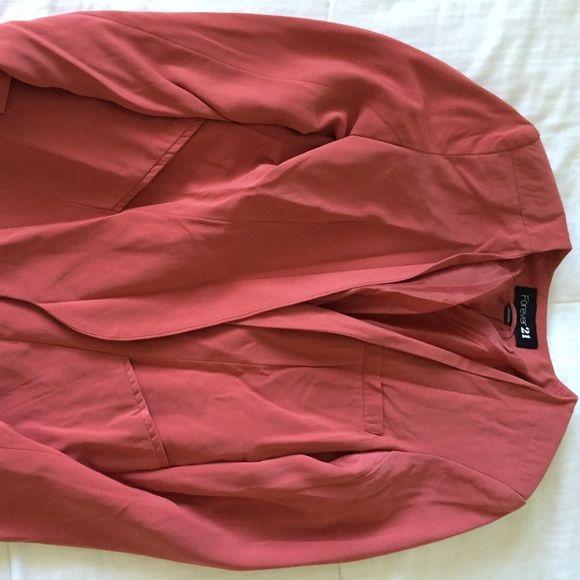 Blush pink blazer New blush pink blazer, never worn Forever 21 Jackets & Coats Blazers