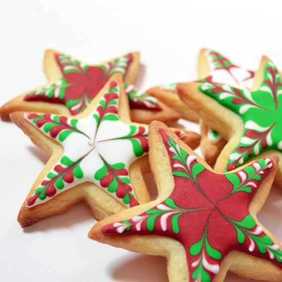 christmas stars cookie decorating kit by sarahhurley on etsy