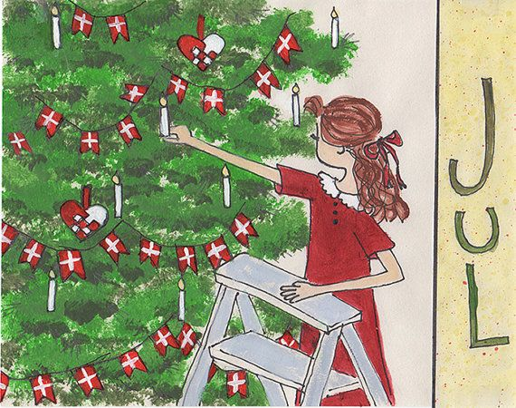 Danish christmas tree greeting card etsy pinterest best danish danish christmas tree greeting card m4hsunfo