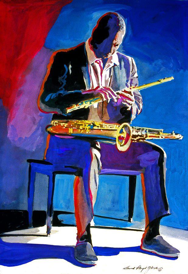 "David Lloyd Glover    ""Trane - John Coltrane""  watercolor"