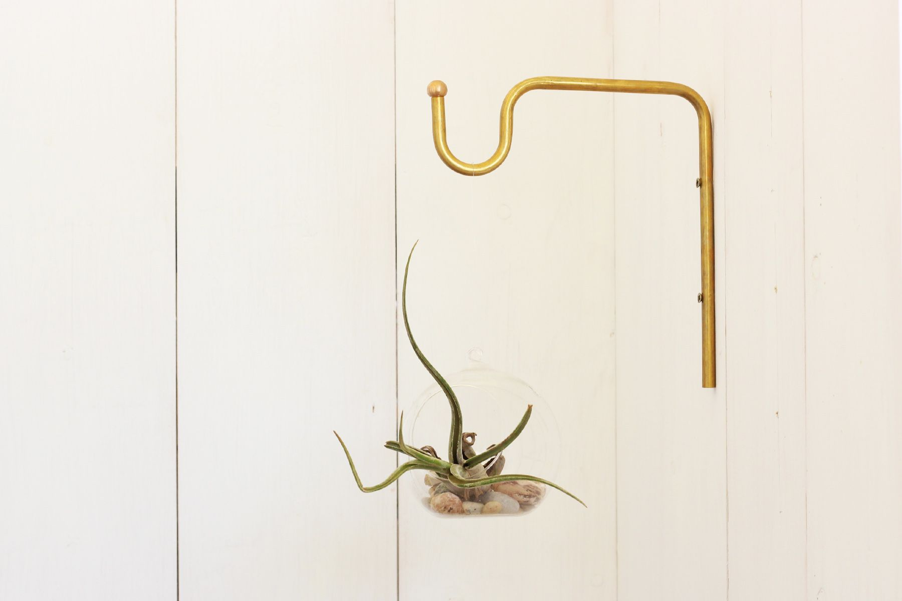 Planter Hanger Minimalist Plant Bracket Brass Wall Hook Etsy