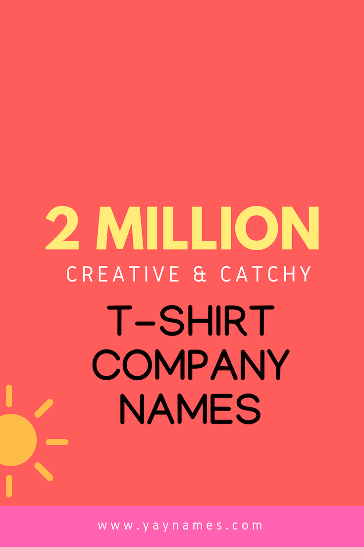 Creative names is the Important part of Starting a Business. Right name  gives your bran… | Catchy business name ideas, Creative company names,  Catchy company names