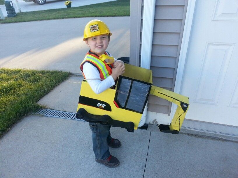 construction worker halloween costume backhoe excavator cat diaper boxes - Diaper Costume Halloween
