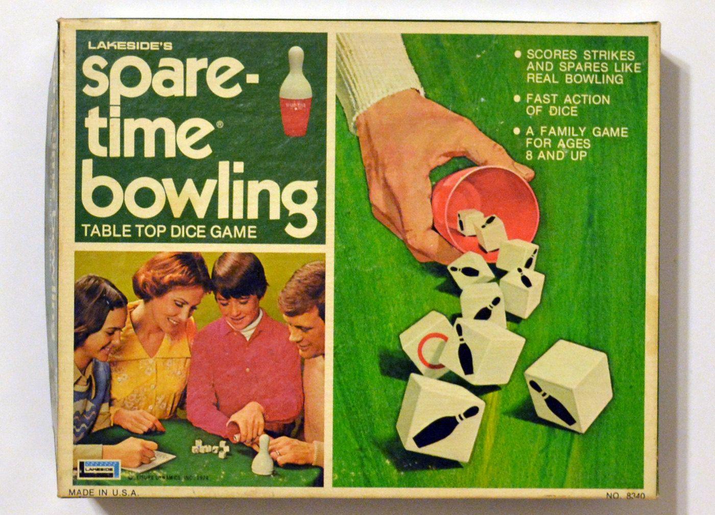 SpareTime Bowling Dice Game, Vintage Lakeside 1971. 9.00