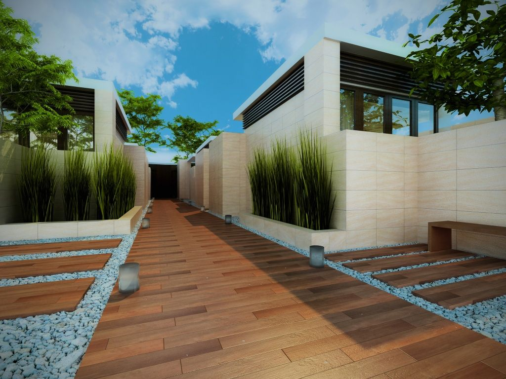 Imagen de pisos y azulejos deexteriores terrazas for Ideas suelo terraza