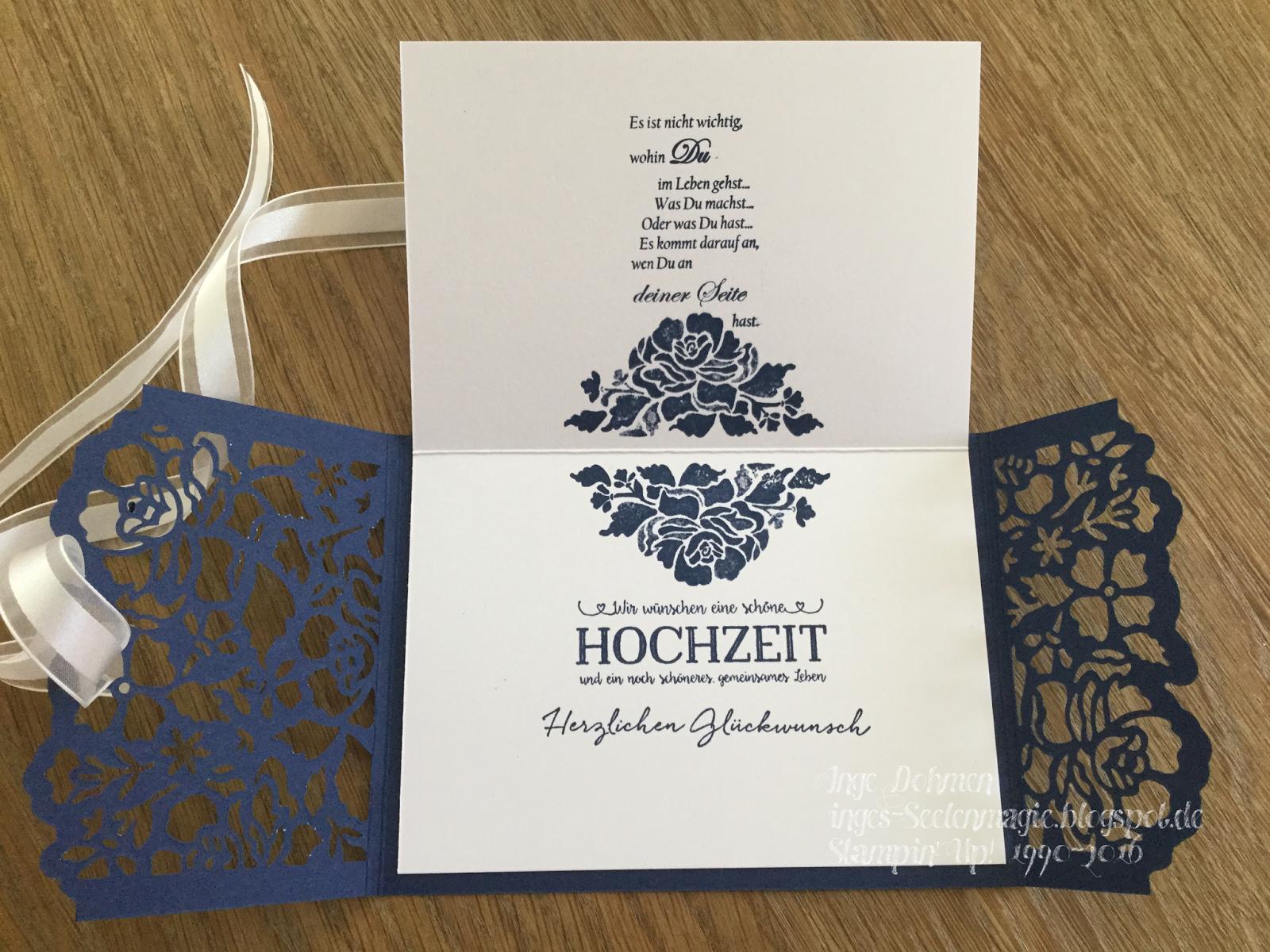 Seelenmagie / Unabhängige Stampin´Up! Demo: Stampin´Up!   Hochzeitskarte  Mit Dem Set Florale Grüße Und Florale Fantasie