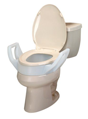 Ableware 725753311 Elevated Toilet Seat With Arms 3 1 2