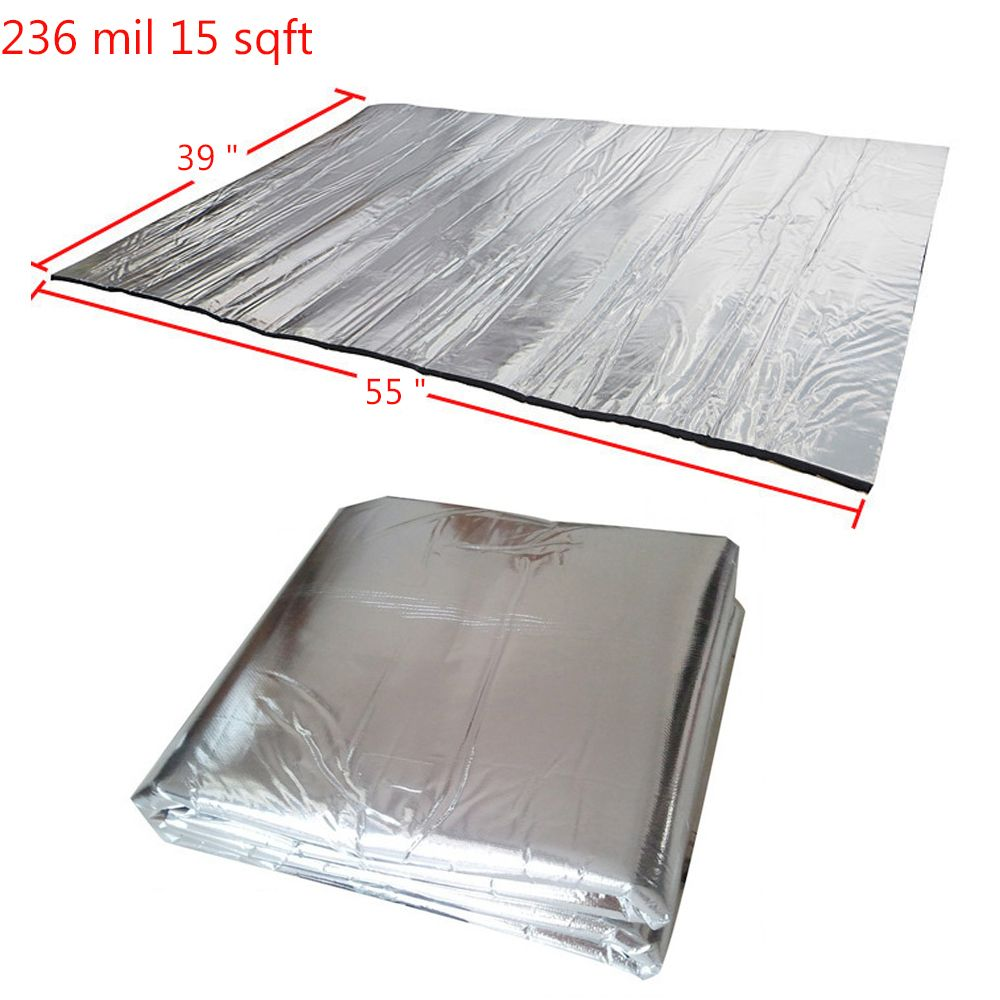 236 mil 15 sqft Sound Deadening Insulation Mat Automotive