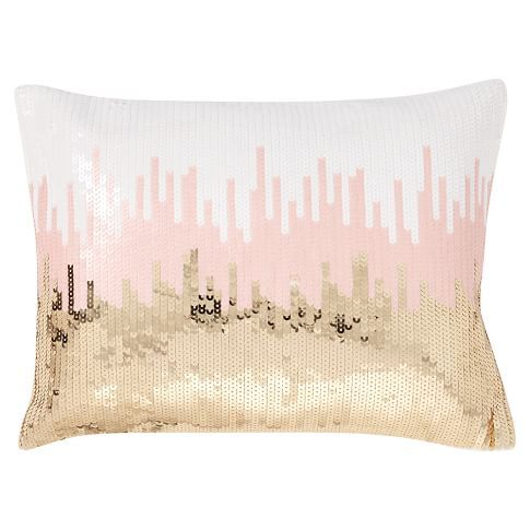 Throw Pillow For Bed Or Couch [Pottery Barn Teen] My Bedroom In Custom Rose Gold Decorative Pillows