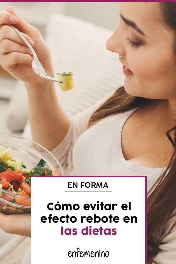 Evitar efecto rebote dieta