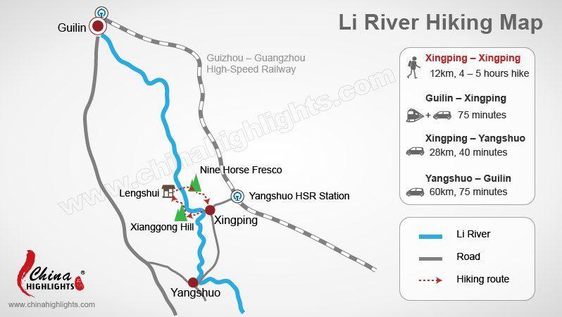Li River Hiking Map Guilin Travel Pinterest Hiking Guilin And