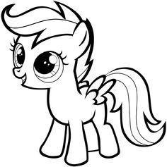 How To Draw Scootaloo From My Little Pony With Easy Step By Drawing Tutorial