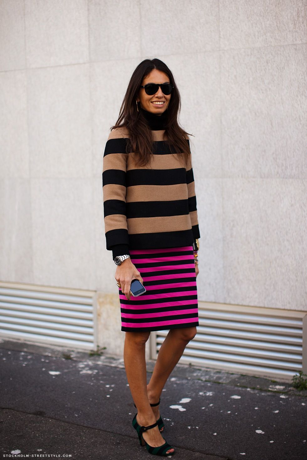 big stripes + little stripes + sidewalk stripes. cool.