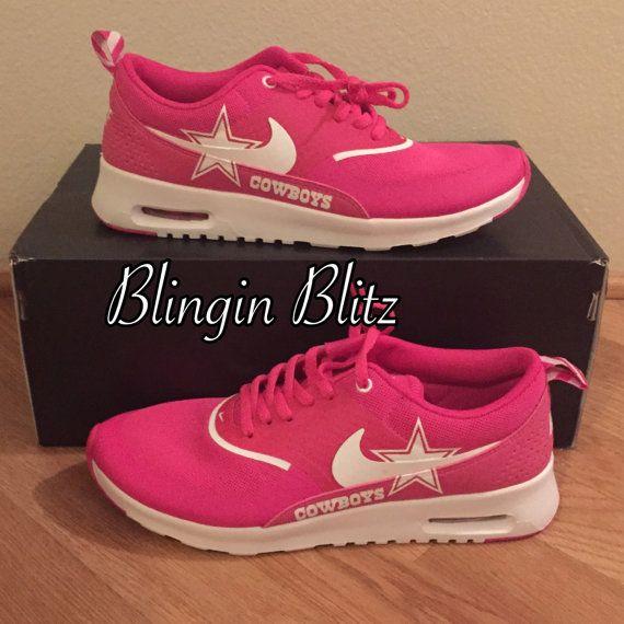 innovative design 00b48 27011 Pink sz 10 Cowboys nike airmax by BlinginBlitz on Etsy Dallas Cowboys, Nike  Air Max