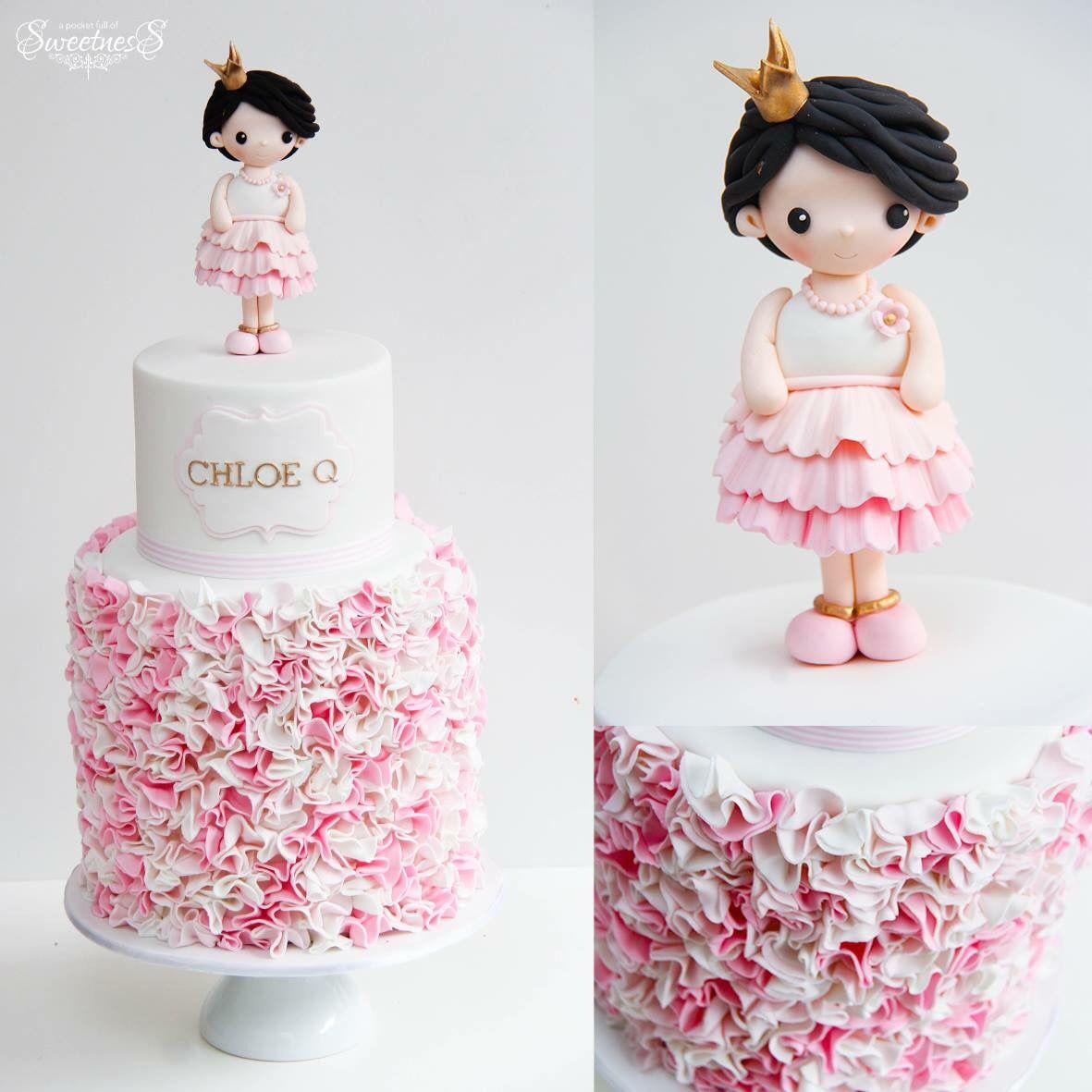 Cake with little girl Tortk hercegnknek Pinterest Cake