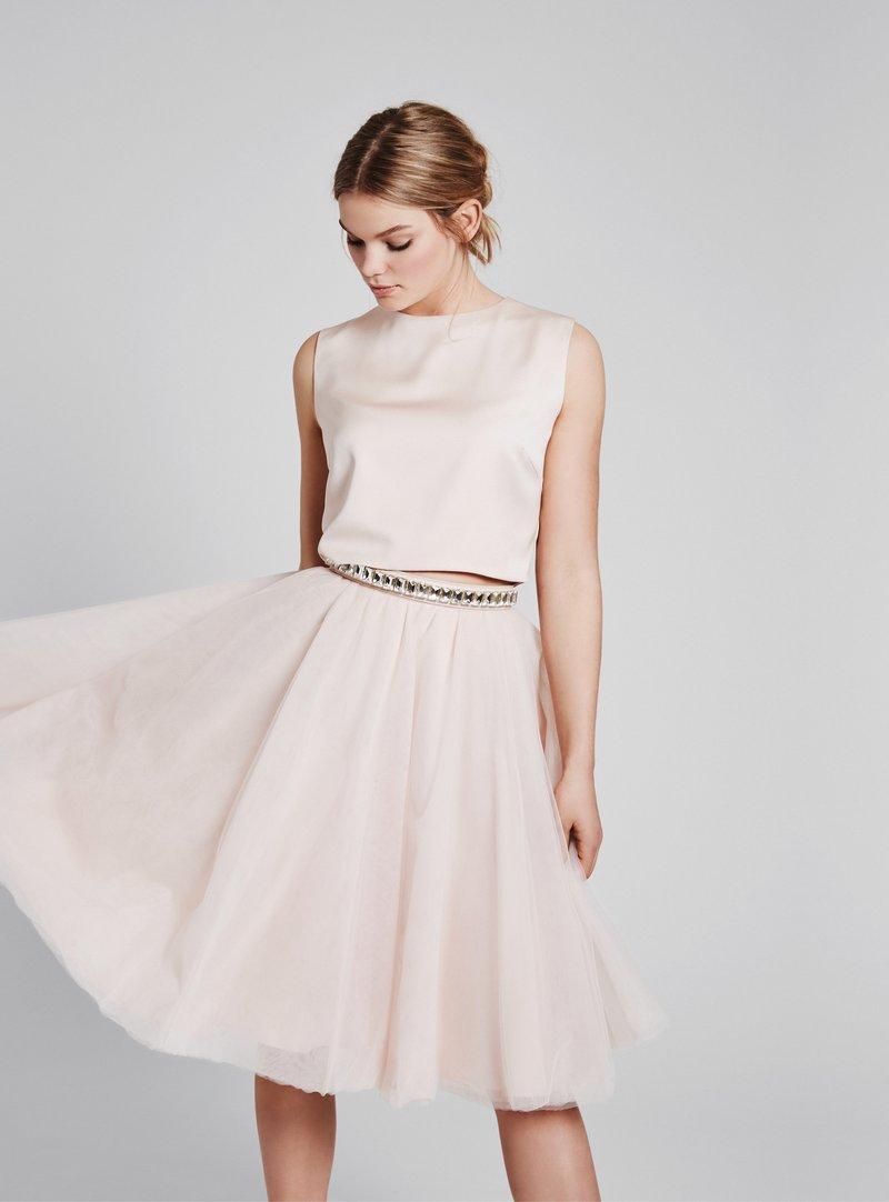 kurzes hochzeitskleid in blush | hochzeit kleid standesamt