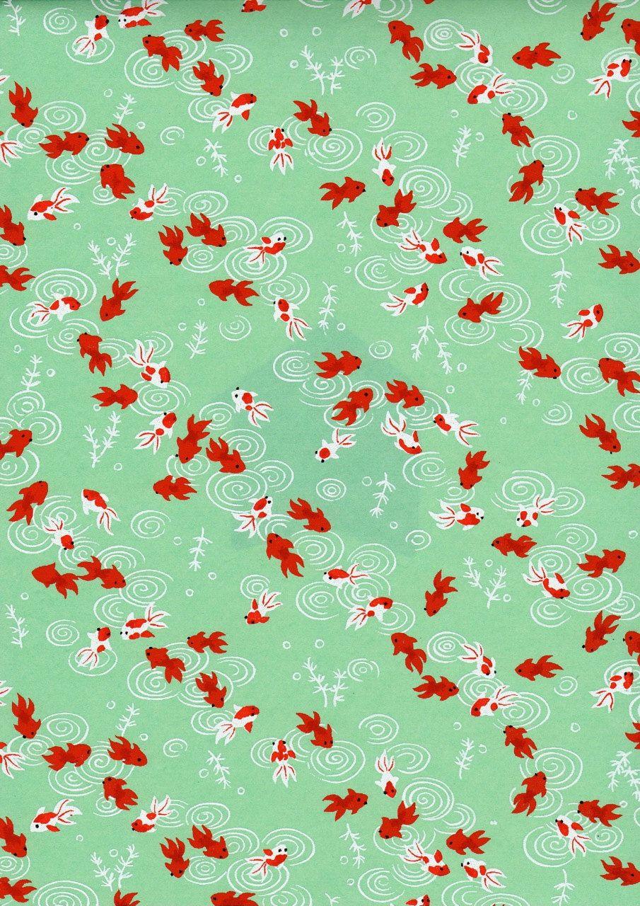 Poisson rouge japonais motifs patterns pinterest for Poisson rouge japonais
