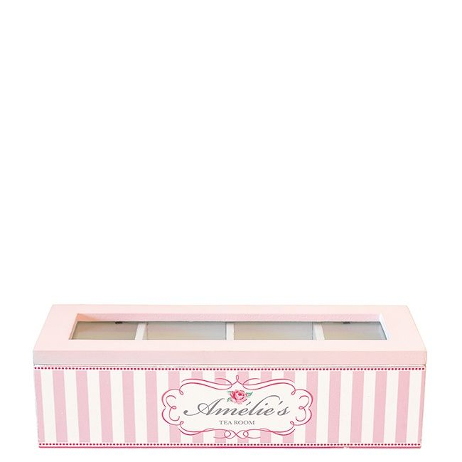 GreenGate Teabox Rectangular Amelie Pink 24 x 9 x 6,5 cm | NEW! GreenGate Spring/Summer 2014 | Originated-Shop