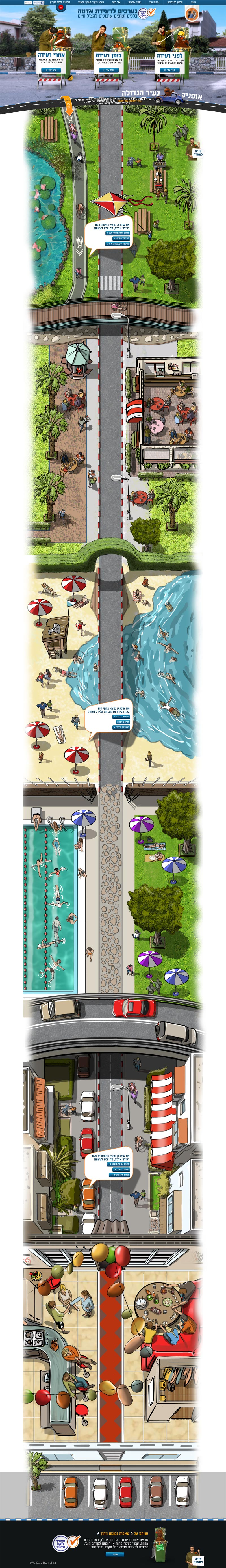 Earthquake preperation campaign  http://oref.mdigital.co.il/