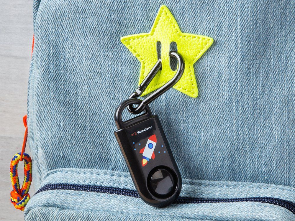 Designed to mimic a key fob this small keyring alarm is a